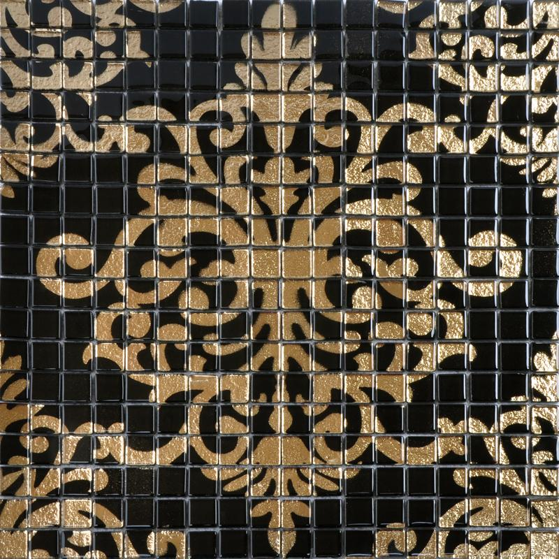 glass mosaic wall art murals puzzle mosaic tile designs DOUD007