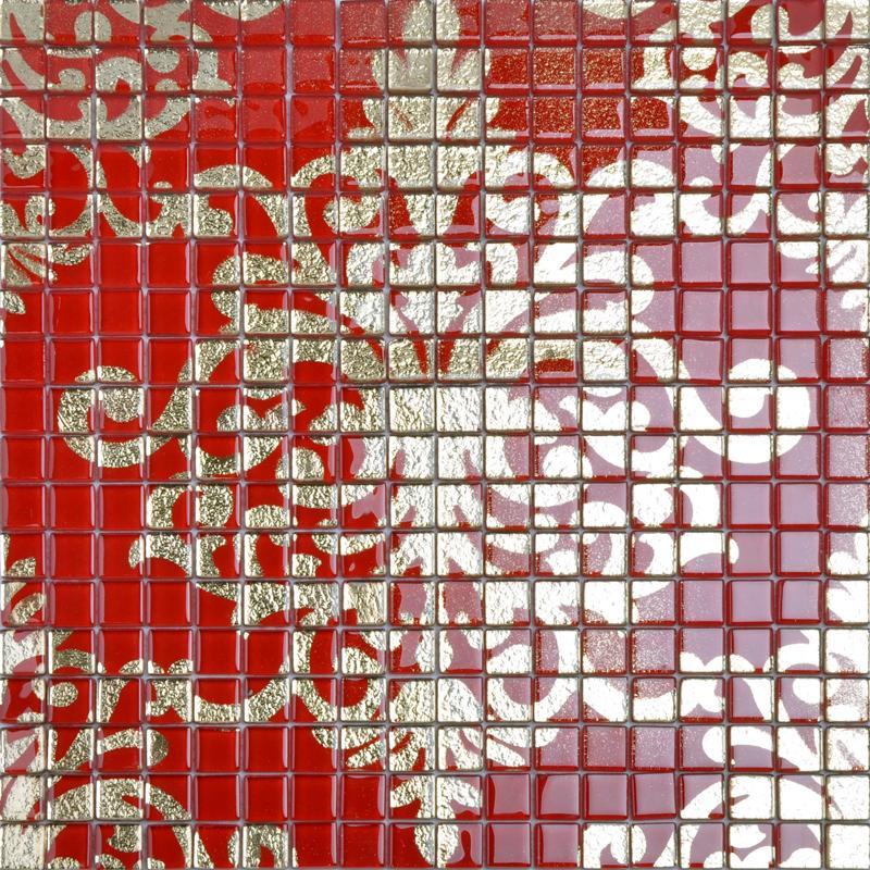 glass mosaic wall art murals puzzle mosaic tile designs DOUD008