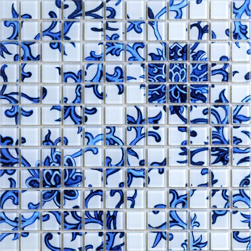 crystal mosaic tile pattern 15x15mm silver glass tile backsplash SM111