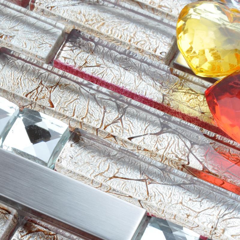crystal strip glass mosaic tiles T004-3