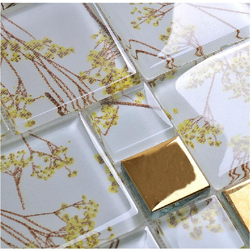 crystal glass tile backsplash F206-1