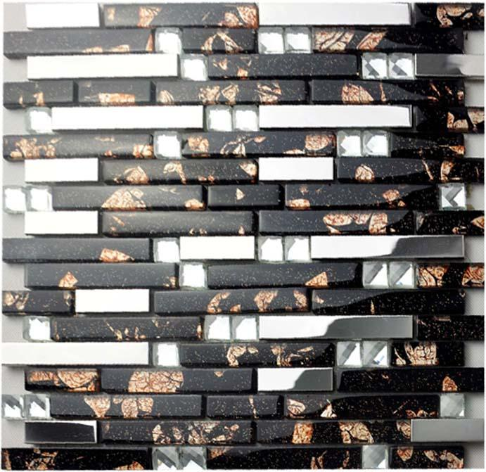 Stainless Steel Mosaic Tiles Glass 2 59 6