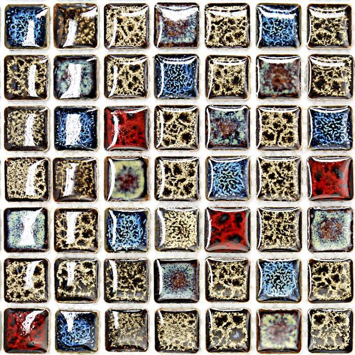 Ceramic Mosaic Tile Fireplace Mirror GM02 1