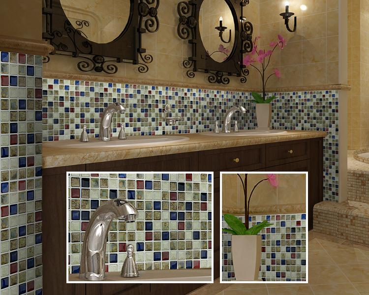 Bathroom Ceramic Mosaic Mirror Tile Sheets Gm011 2