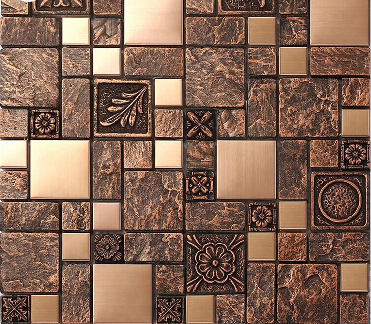 stainless steel backsplash kitchen ceramic floor tile b963