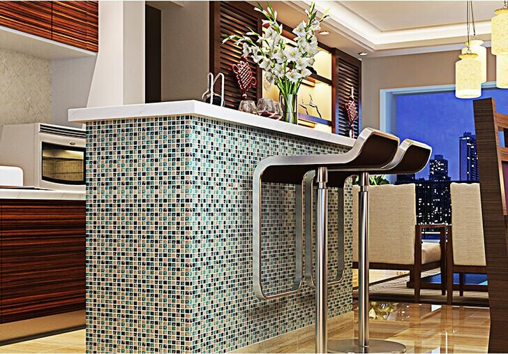 ceramic glass tile backsplash kitchen crackle crystal glass wall tiles  SPS88-2