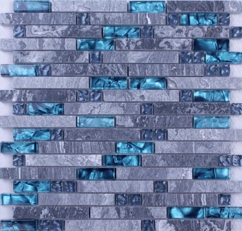 Marble glass tile N008