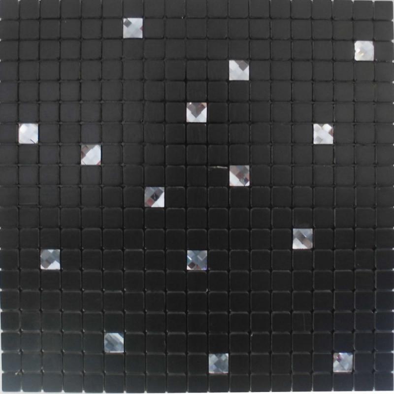 metallic mosaic tile backsplash MH-15
