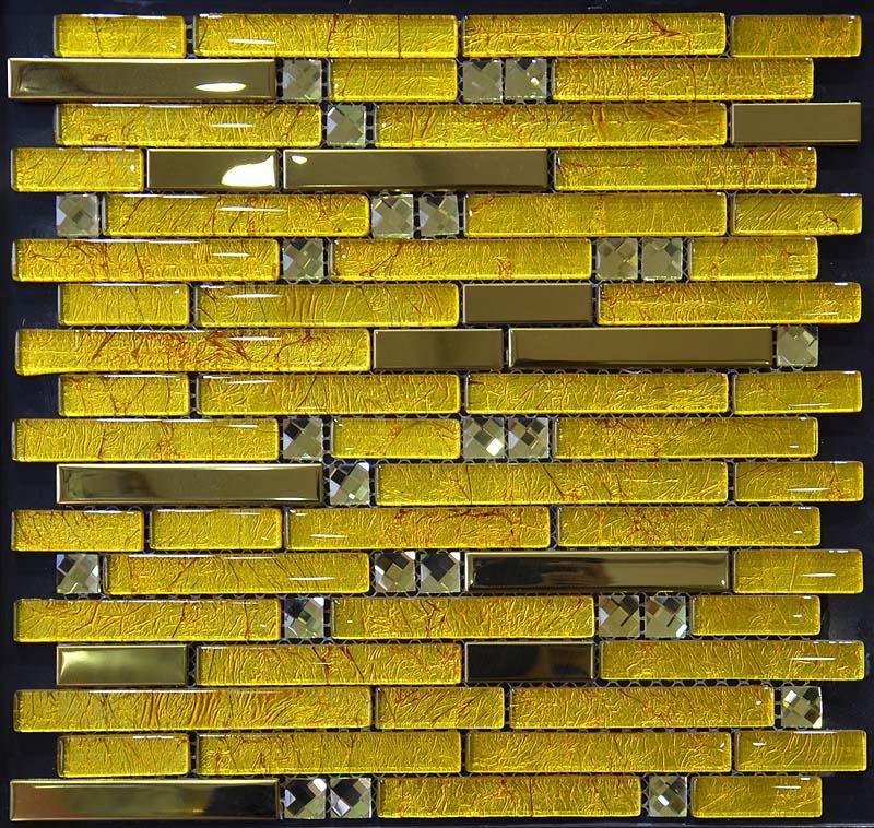 Plated metallic mosaic tile YB2067
