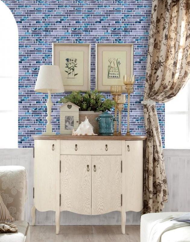 stone glass mosaic tile bathroom mirror backsplashN008-S3