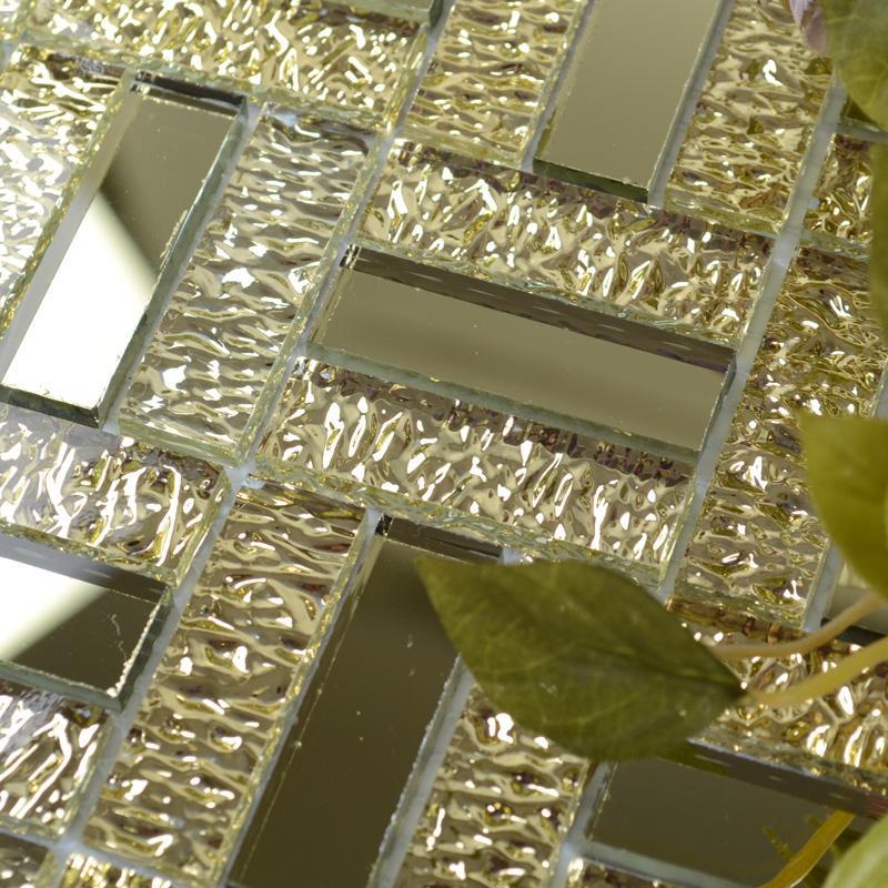 crystal glass mirror tile MGT138