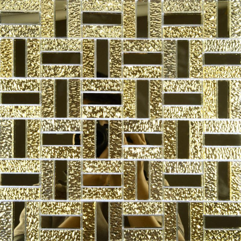 crystal glass mirror wall tile cheap glass mosaic tiles MGT138